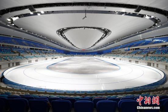 Beijing 2022 Winter Olympic speed skating venue ready for trails